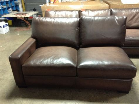 Loveseat Sectional Sofa by Pottery Barn Turner Leather Sofa Sectional Square Arm Left
