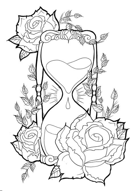 Hourglass Tattoos Designs, Ideas and Meaning | Tattoos For You
