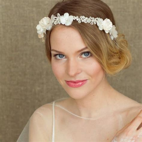 wedding hair vine bohemian halo flower hair vine headband