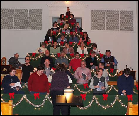 living christmas tree sings at thomaston baptist church