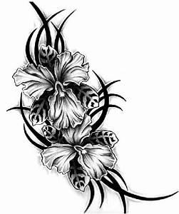 Aiz Tattoo Gallery: Black Flower Tattoo for Girls Girls