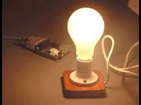 Science Lamp by Science Experiments Light Bulb Experiment Youtube