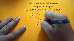 Drawing Ionic Lewis Dot Structures  Group 2 And 16