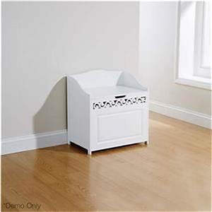 laundry bathroom clothes towels hamper basket w storage With bathroom bench hamper