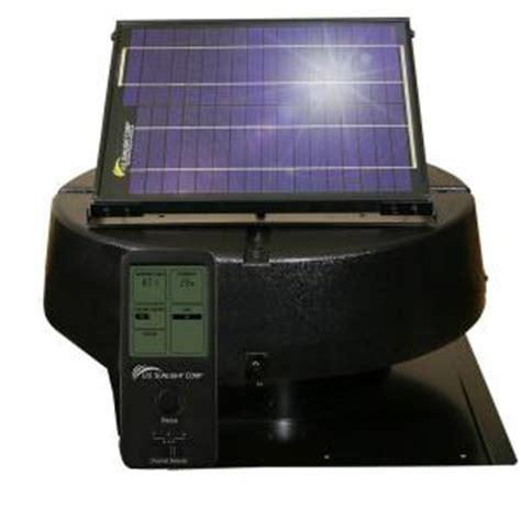 us sunlight solar attic fan us sunlight 12 watt solar powered roof mount attic fan