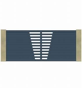 Portail En Aluminium : portail coulissant motoris en forme de v leportailalu ~ Melissatoandfro.com Idées de Décoration