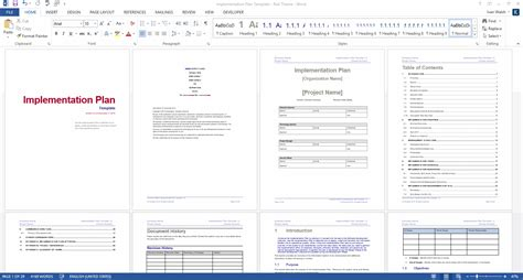 implementation plan template templates forms