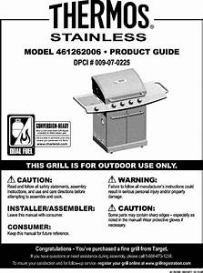Thermos Grill  Gas Manual L0807110