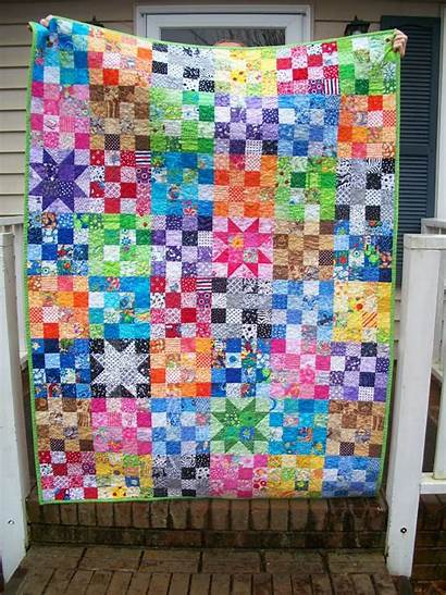 Rainbow Quilt Scrap Sew Patch Finish January
