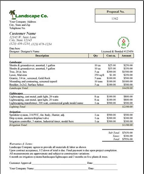 printable sle lawn service contract form laywers