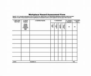 9 hazard assessment templates sample templates for Workplace hazard assessment template