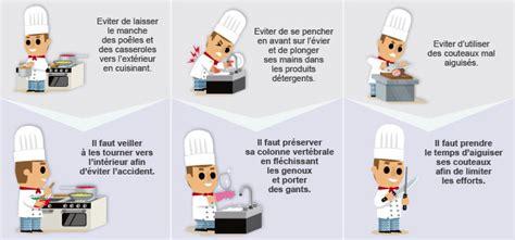 fiche metier cuisine prévention des risques professionnels des métiers de