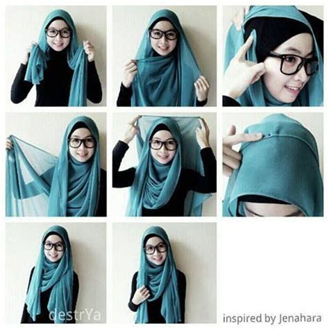 lovely hijab style    glasses