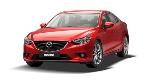 Mazda Sedan Sporty Design Driving With Low Fuel