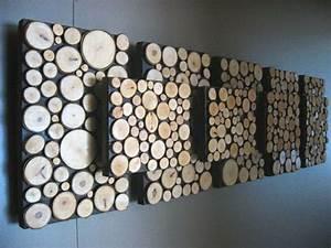 Wood slice wall decor : Wood slice wall art