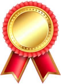 Red Award Rosette PNG Clipar Image