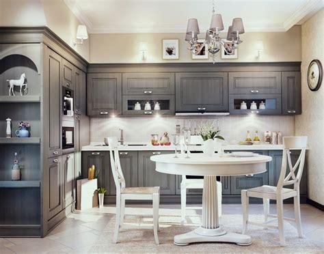 country chic kitchen ideas кухня серого цвета дизайн особенности фото интерьеров 5943