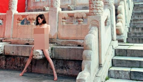 Outcry Over Sexy Photo Shoot Featuring Naked Model At Beijings Forbidden City South China