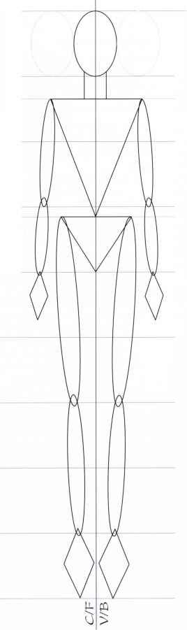 heads template figure illustration martel fashion