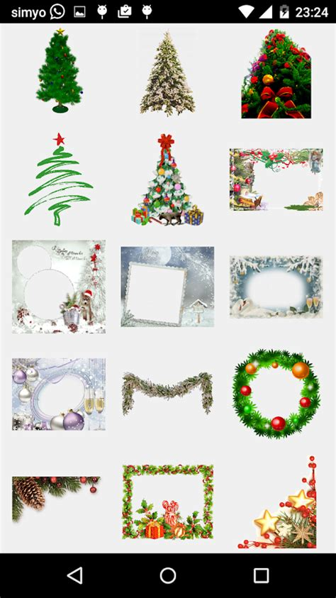 merry christmas photo stickers android apps play