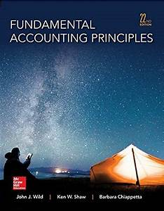 Fundamental Accounting Principles Wild 22nd Edition Test