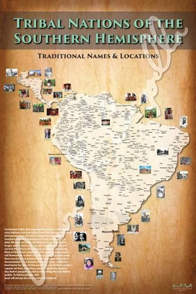 tribal nations   southern hemisphere map indigenous