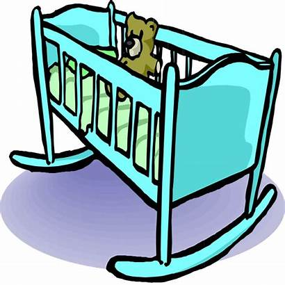 Clipart Clip Cradle Things Crib Cliparts Cot