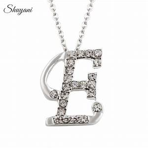 shuyani jewelry silver plated alphabet necklace with link With jewelry with letters on them
