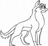 Wolf Coloring Anime Wolves Printable sketch template