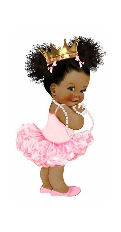 Princess African American Shower Transparent Clipart Backdrop