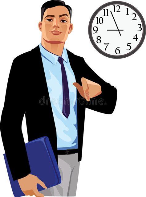 responsabile ufficio responsabile di ufficio sotto l orologio illustrazione
