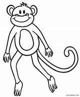 Coloring Pages Monkey Monkeys Printable Cool2bkids sketch template