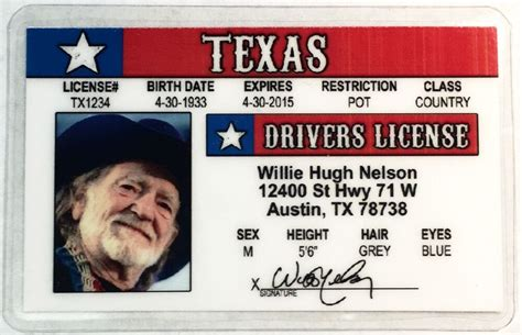 Texas Drivers License Novelty