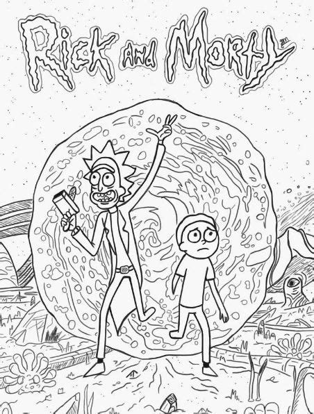rick  morty coloring page drawing board weekly