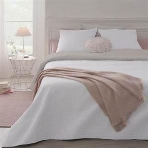 Dessus De Lit Blanc : parure de lit grande taille dessus de lit 2 housses d 39 oreiller blanc maison fut e ~ Teatrodelosmanantiales.com Idées de Décoration