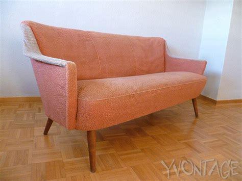 sofa sitzhöhe 60 stylische sofa cocktailsofa lounge 50er 60er rockabilly lachsfarben ebay
