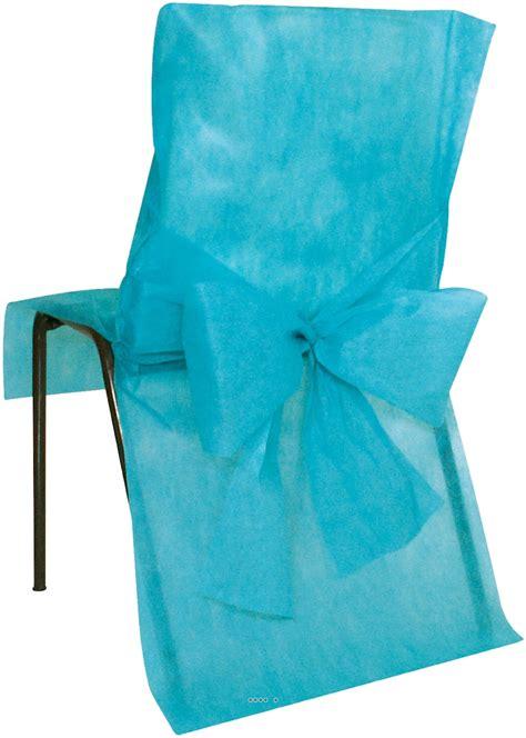 housses de chaise x10 avec noeud tissu non tiss 233 50 cm x