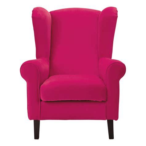canapé assise fauteuil enfant velours fuchsia velvet maisons du monde