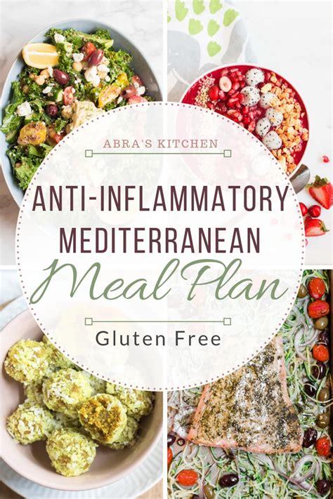 Anti-Inflammatory, Gluten-Free, Mediterranean Meal Plan ...