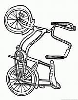 Bike Bicycle Coloring Pages sketch template
