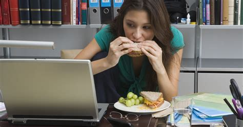 cooking at your desk eating at your desk is terrible for you and your work