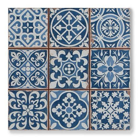 tapestry blue patterned tiles porcelain superstore