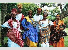 Martiniquetraditional dresses Costume of the African