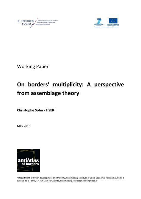 borders multiplicity  perspective