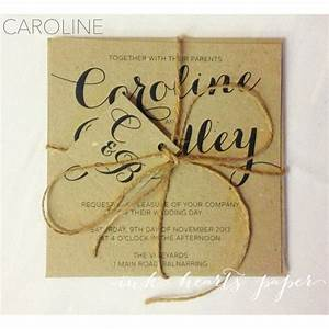 rustic vintage backyard calligraphy script twine brown With rustic wedding invitations melbourne