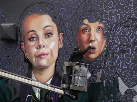 derry girls immortalised  paint  giant city centre