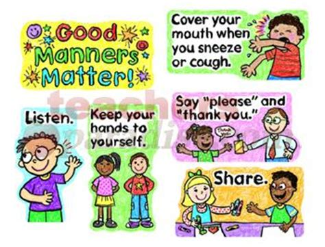 manners for kids clipart images showing good manners clipart