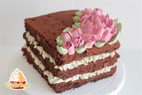 Eiweißcreme Torte  Rustikal Trifft Auf Eleganz Vanilletanz