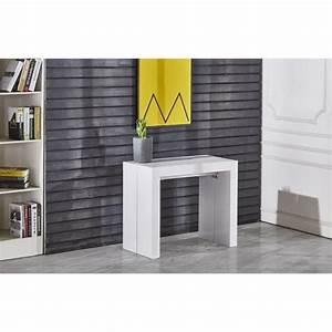 Table Blanc Laqué Extensible Ikea : zack console extensible 250cm laqu blanc achat vente console extensible zack console ext ~ Nature-et-papiers.com Idées de Décoration