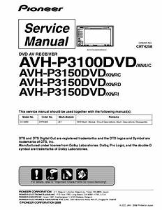 Pioneer Avh P3100dvd Manual In 2020